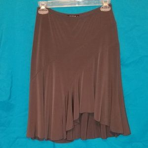 Hiatus asymmetrical charcoal gray skirt sz small